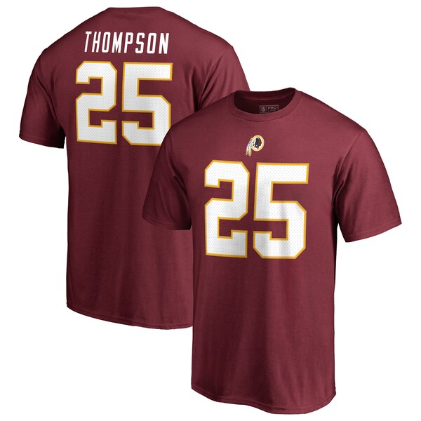 Chris Thompson Washington Redskins NFL Pro Line by Fanatics Branded Authentic Stack Name & Number T-Shirt - Burgundy