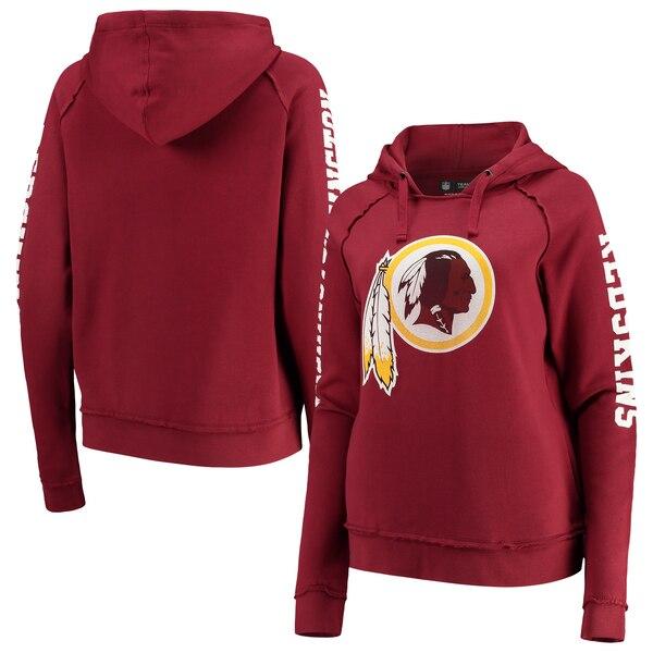 Washington Redskins New Era Women's Touchdown Fleece Pullover Hoodie - Burgundy