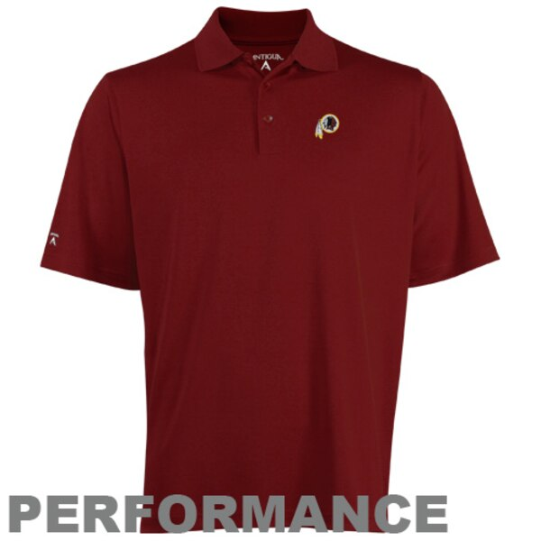 Antigua Washington Redskins Pique Xtra-Lite Polo - Burgundy