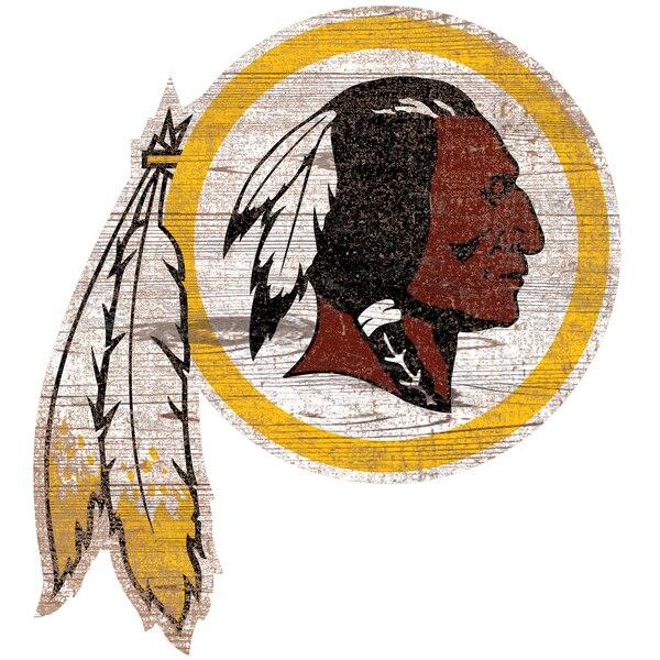 Washington Redskins 24'' x 24'' Distressed Logo Cutout Sign