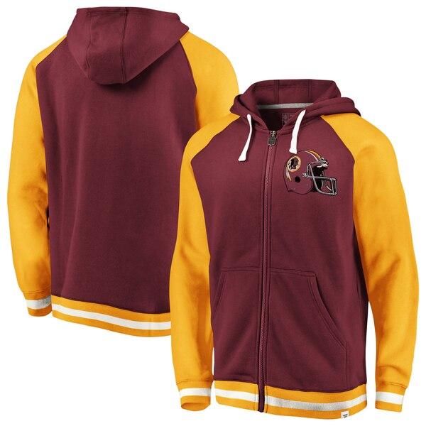 Washington Redskins NFL Pro Line by Fanatics Branded True Classics Full-Zip Hoodie - Burgundy/Gold