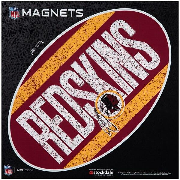 """Washington Redskins Vintage 12"""" x 12"""" Oval Full Color Magnet"""
