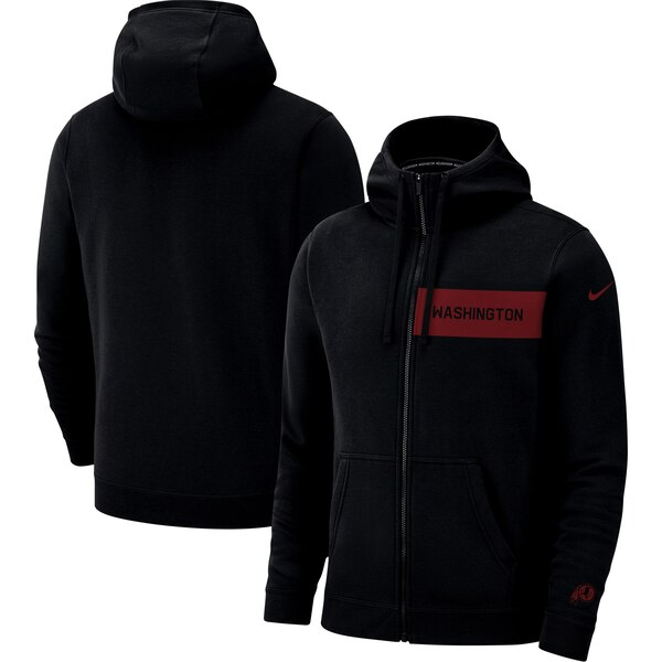 Washington Redskins Nike Fan Gear Club Full-Zip Hoodie - Black