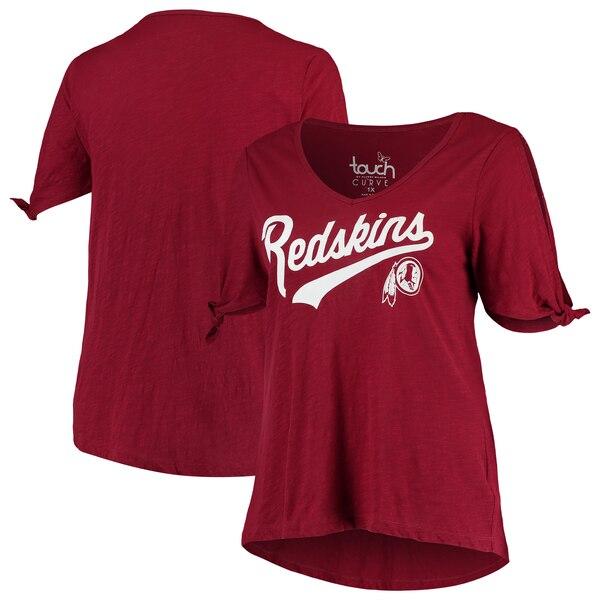 Washington Redskins Touch by Alyssa Milano Women's Plus Size First String V-Neck T-Shirt - Burgundy
