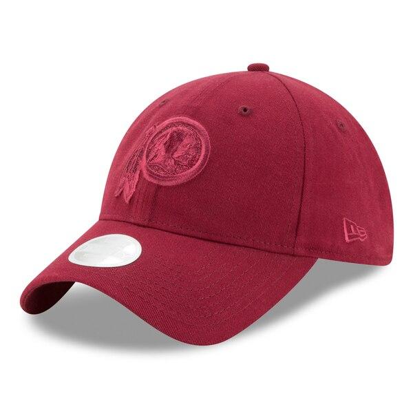 Washington Redskins New Era Women's Team Glisten Tonal 9TWENTY Adjustable Hat - Burgundy