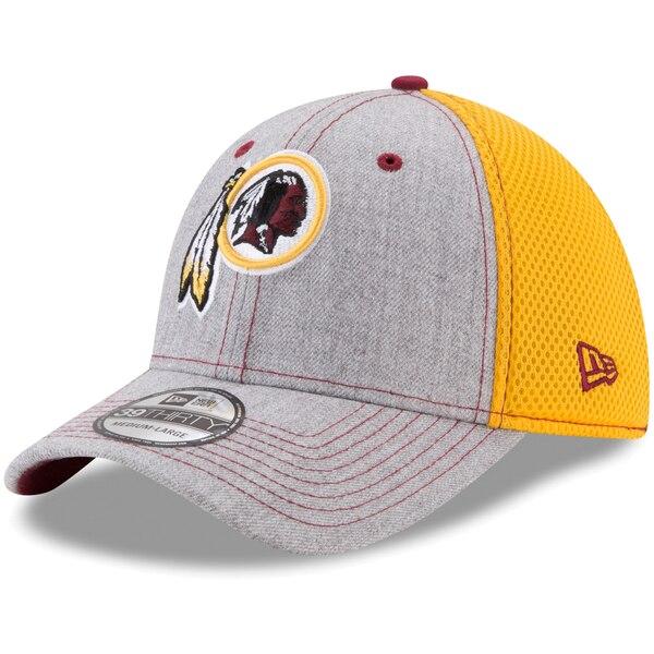 Washington Redskins New Era Neo 2 39THIRTY Flex Hat - Heathered Gray/Gold