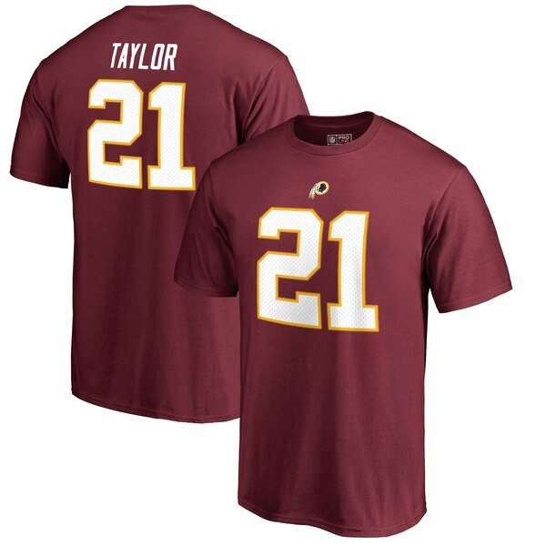 Sean Taylor Washington Redskins NFL Pro Line by Fanatics Branded Retired Player Authentic Stack Name & Number T-Shirt - Burgundy
