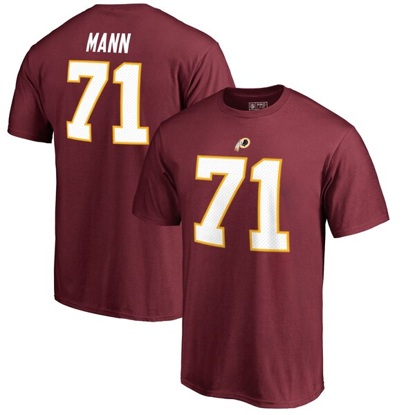 Charles Mann Washington Redskins NFL Pro Line by Fanatics Branded Retired Player Authentic Stack Name & Number T-Shirt - Burgundy