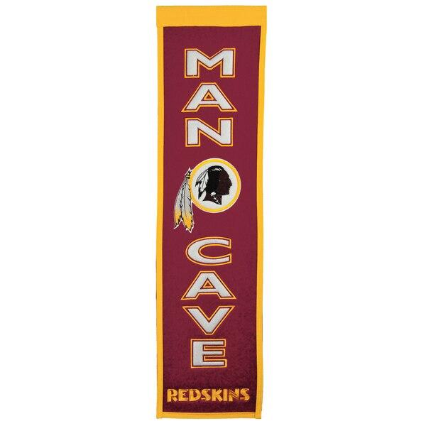 "Washington Redskins 8"" x 32"" Man Cave Banner"