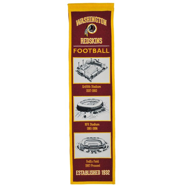 "Washington Redskins 8"" x 32"" Transformation Banner"
