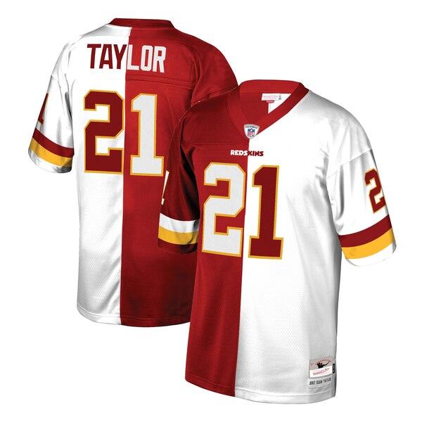 Sean Taylor Washington Redskins Mitchell & Ness Retired Player Split Replica Jersey - Burgundy/White