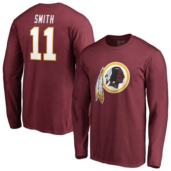 Alex Smith Washington Redskins NFL Pro Line by Fanatics Branded Player Icon Name & Number Long Sleeve T-Shirt - Burgundy