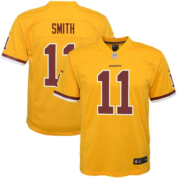 Alex Smith Washington Redskins Nike Youth Color Rush Alternate Player Game Jersey - Gold