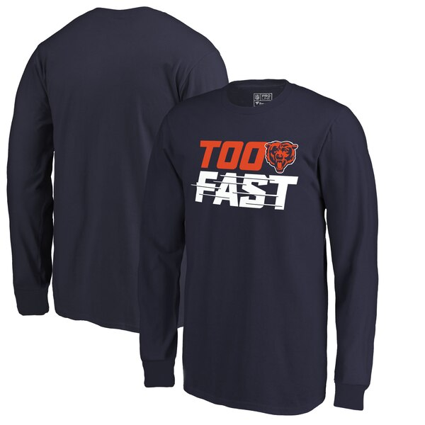 Chicago Bears Fanatics Branded Youth Too Fast Long Sleeve T-Shirt - Navy