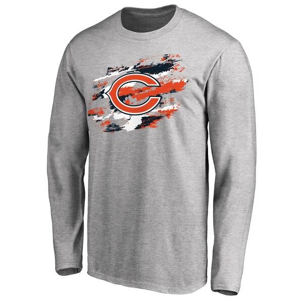 Chicago Bears NFL Pro Line True Colors Long Sleeve T-Shirt - Ash