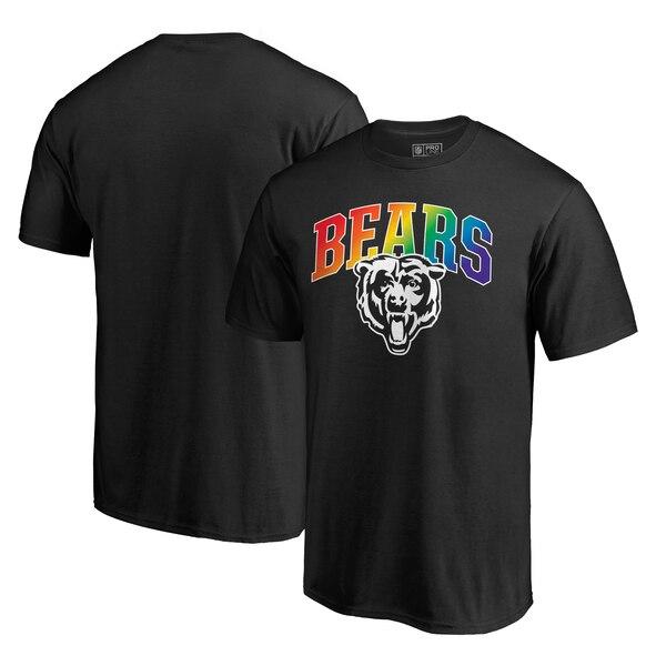 Chicago Bears NFL Pro Line by Fanatics Branded Pride T-Shirt - Black