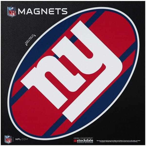 """New York Giants Stripe 12"""" x 12"""" Oval Full Color Magnet"""