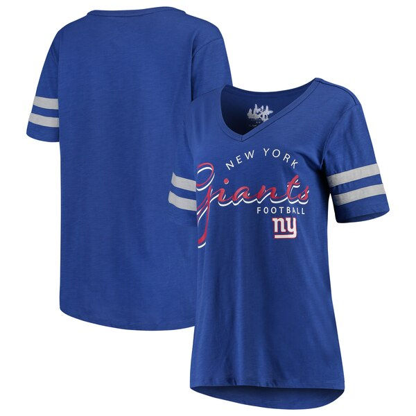 New York Giants Touch by Alyssa Milano Women's Triple Play V-Neck T-Shirt - Royal