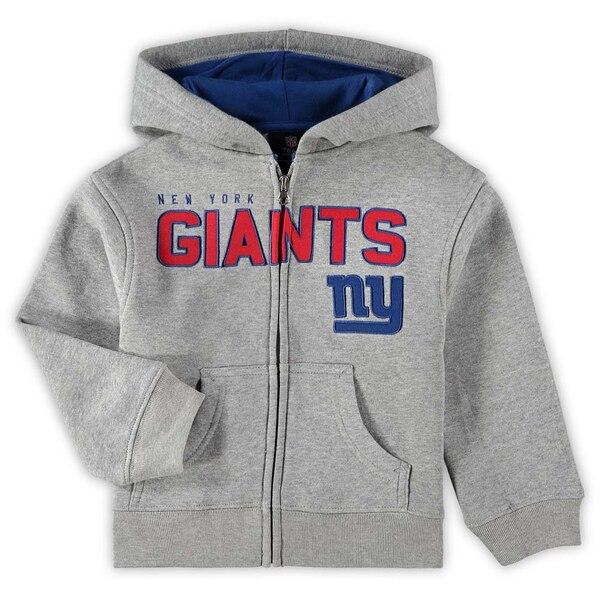 New York Giants Preschool Fan Gear Stated Full-Zip Hoodie - Gray