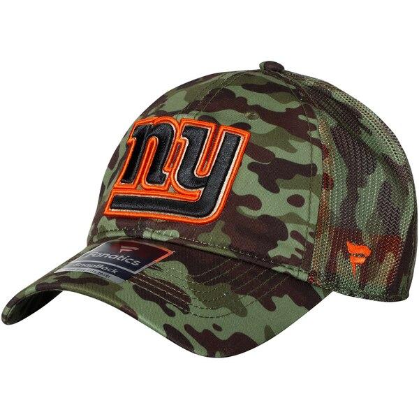 New York Giants NFL Pro Line by Fanatics Branded Recon Trucker Adjustable Hat - Camo
