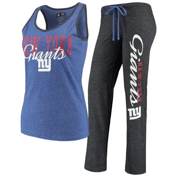 New York Giants Concepts Sport Women's Spar Tank Top & Pants Set - Royal/Charcoal