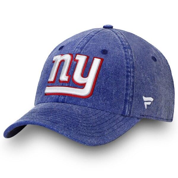 New York Giants NFL Pro Line by Fanatics Branded Timeless Core Fundamental Adjustable Hat - Royal