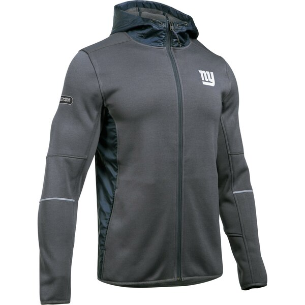 New York Giants Under Armour Combine Authentic Swacket Performance Full-Zip Jacket - Charcoal