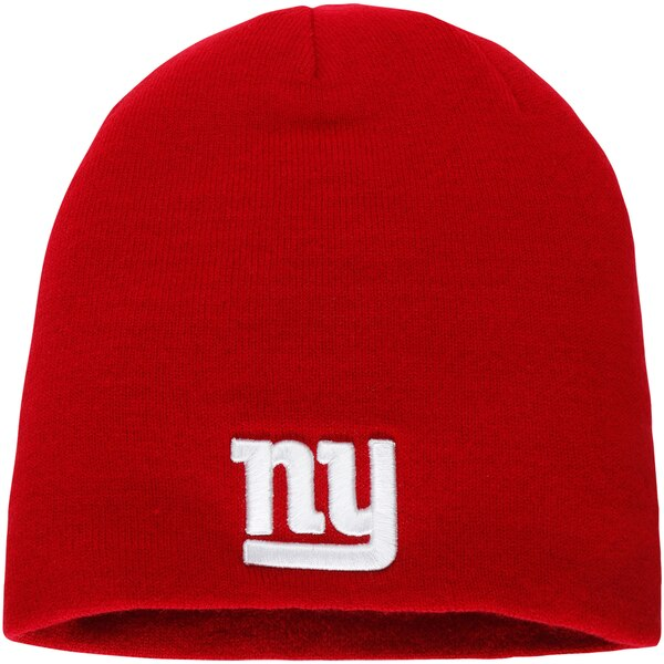 New York Giants NFL Pro Line by Fanatics Branded Core Uncuffed Knit Beanie - Red