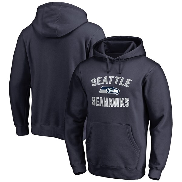 Seattle Seahawks NFL Pro Line Big & Tall Victory Arch Pullover Hoodie - College Navy
