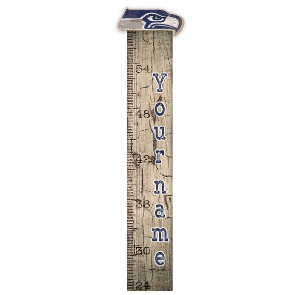 """Seattle Seahawks 6"""" x 36"""" Personalized Growth Chart Sign"""