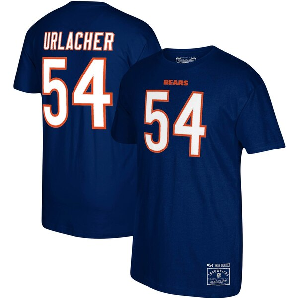 Brian Urlacher Chicago Bears Mitchell & Ness Throwbacks Retired Player Name & Number T-Shirt - Navy