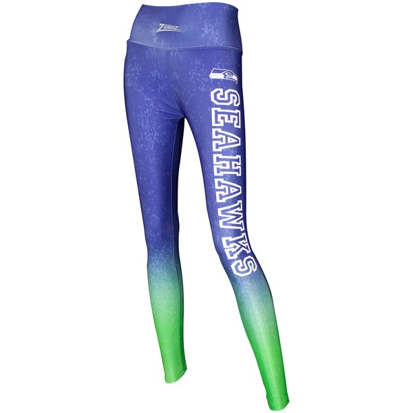 Seattle Seahawks Zubaz Women's Gradient Leggings - College Navy