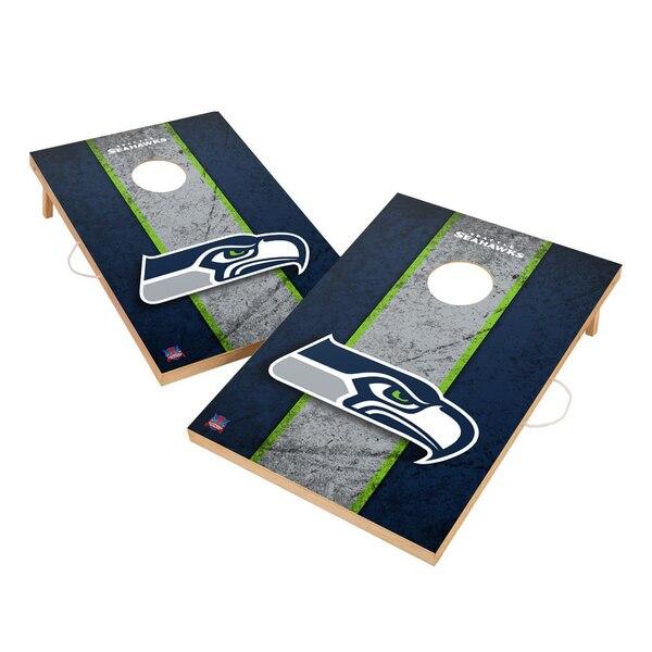 Seattle Seahawks 2' x 3' Vintage Cornhole Game Set