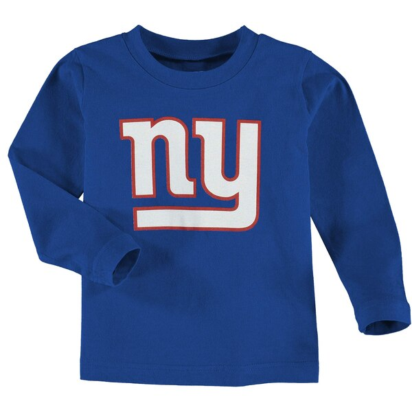 New York Giants Toddler Team Logo Long Sleeve T-Shirt - Royal Blue