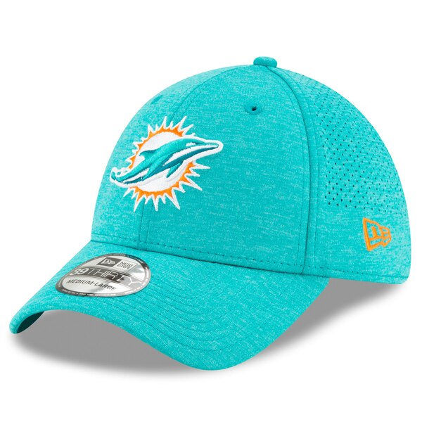 Miami Dolphins New Era STH Perf 39THIRTY Flex Hat - Aqua