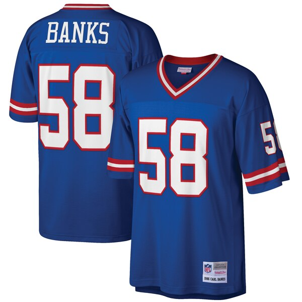 Carl Banks New York Giants Mitchell & Ness Retired Player Legacy Replica Jersey - Royal
