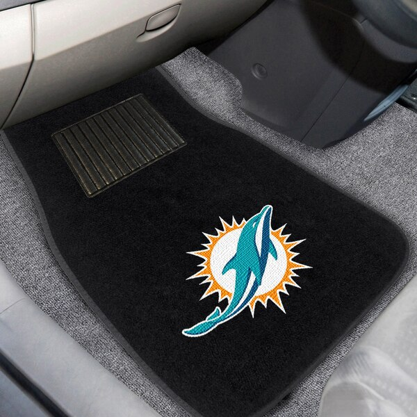 Miami Dolphins 2-Piece Embroidered Car Mat Set