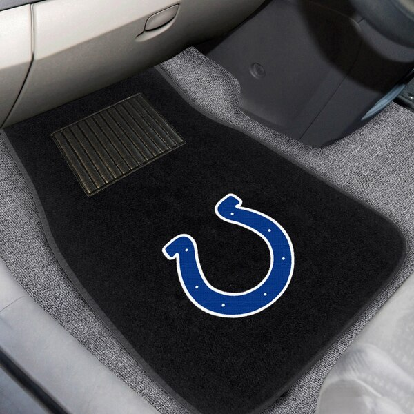 Indianapolis Colts 2-Piece Embroidered Car Mat Set