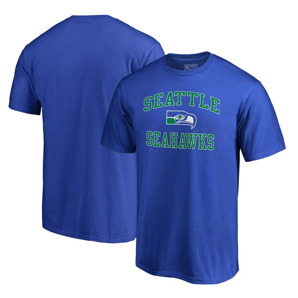 Seattle Seahawks NFL Pro Line by Fanatics Branded Vintage Collection Victory Arch Big & Tall T-Shirt - Blue