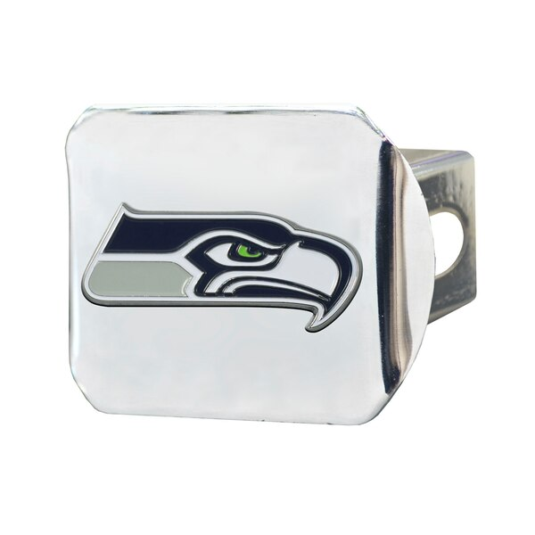 Seattle Seahawks Color on Chrome Hitch Cover