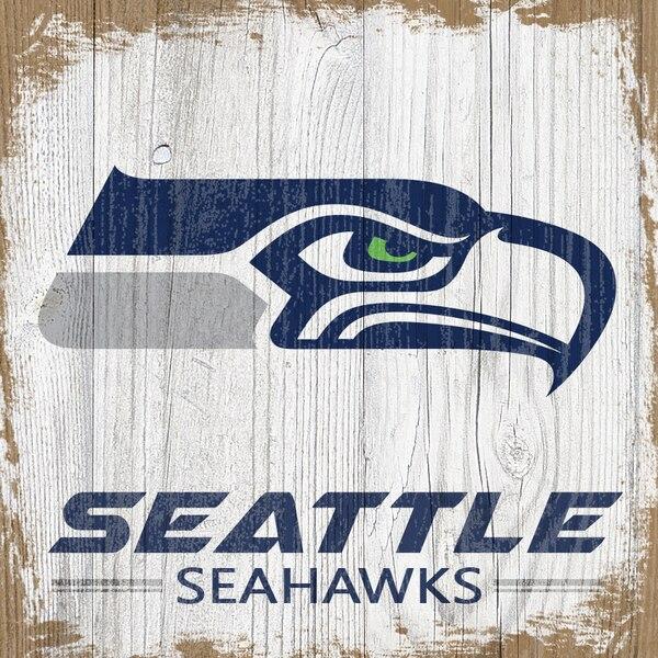 Seattle Seahawks 6'' x 6'' Team Logo Block