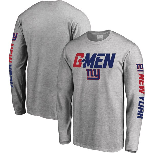 New York Giants NFL Pro Line Hometown Collection Long Sleeve T-Shirt - Heather Gray