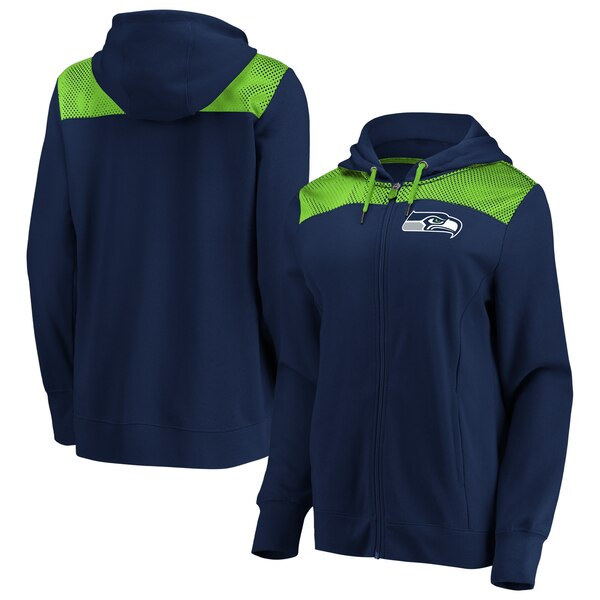 Seattle Seahawks Fanatics Branded Women's Team Best Full-Zip Hoodie - College Navy