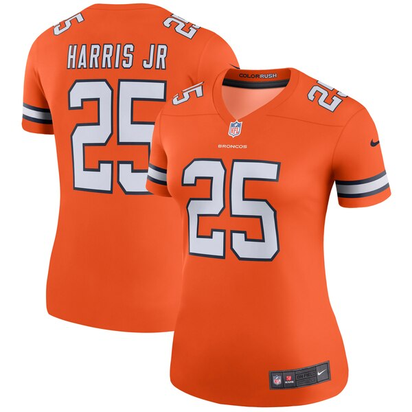 Chris Harris Jr Denver Broncos Nike Women's Color Rush Legend Jersey - Orange