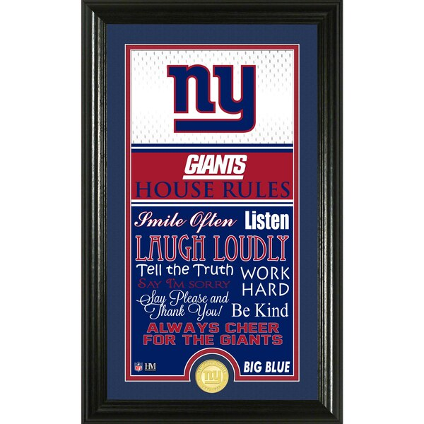 New York Giants Highland Mint 12'' x 20'' House Rules Supreme Photo Mint