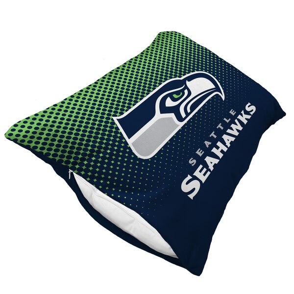 Seattle Seahawks Dot Fade Plush Standard Pillow Protector - Blue