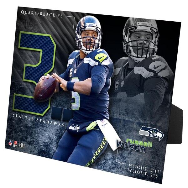 Russell Wilson Seattle Seahawks Highland Mint 8'' x 10'' PleXart