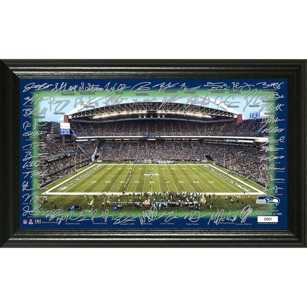 Seattle Seahawks Highland Mint 12'' x 20'' Signature Gridiron Collection Photo
