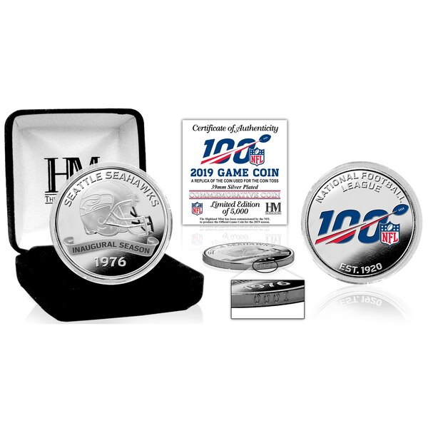 Seattle Seahawks Highland Mint Silver Game Coins
