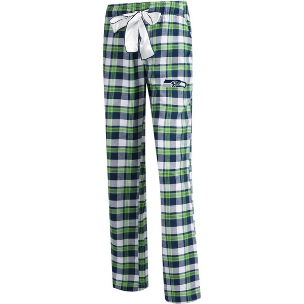 Seattle Seahawks Concepts Sport Women's Plus Size Piedmont Flannel Sleep Pants - College Navy/Neon Green